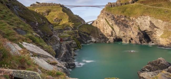 Castello di Tintagel in Cornovaglia: inaugurato il nuovo ponte