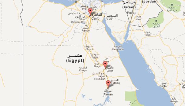 cartina Ente Turismo Egiziano