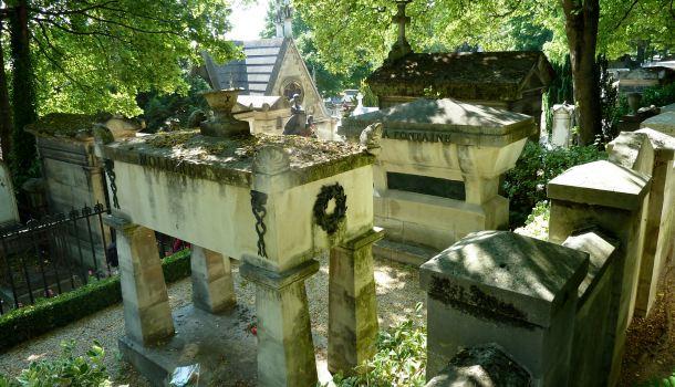 pere lachaise moliere e la fontaine