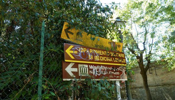 Indicazioni per il Museo Archeologio di Chieti