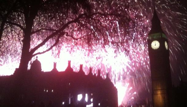 Fuochi d'artificio al Big Ben