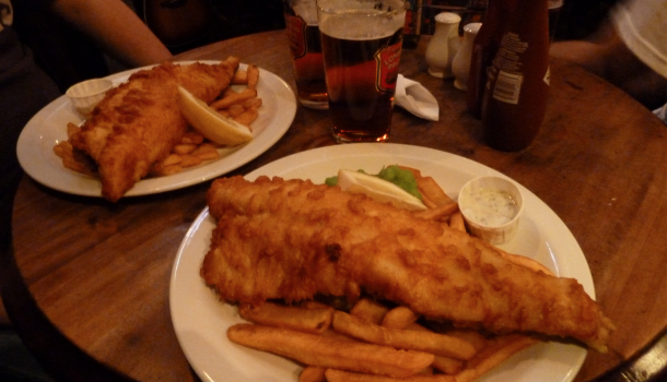cucina inglese: fish and chips