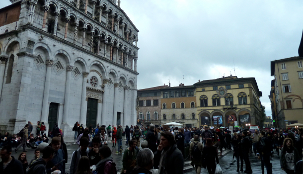 Lucca comics and Games: piazza San Michele