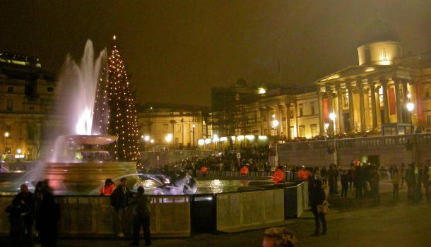 Trafalguar Square a san Silvestro