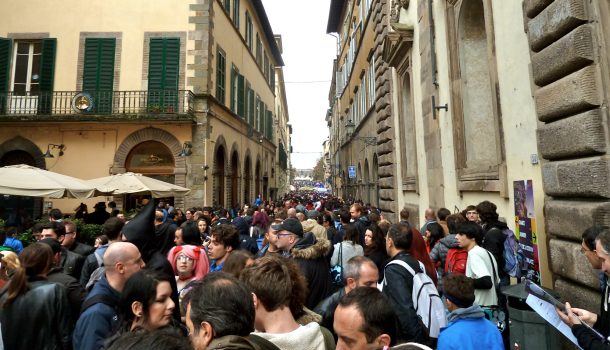 Lucca Comics and Games: piazza napoleone