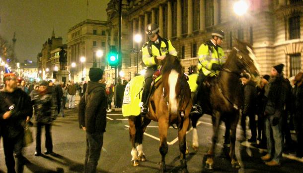 Polizia inglese a capodanno
