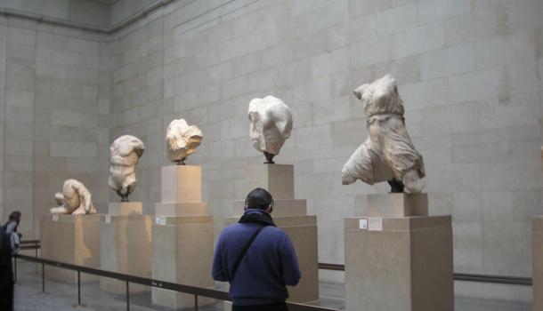 Statue del frontone ovest del Partenone: Iride,