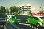 Maggioloni verdi: i taxi a città del messico
