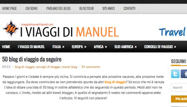 I viaggi di Manuel