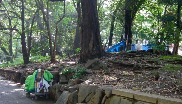tenda nel parco di ueno