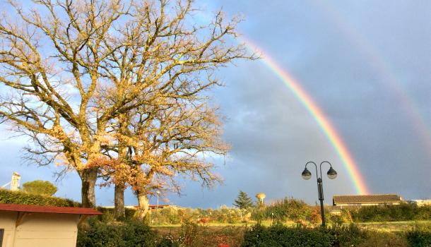 arcobaleno a Sorano