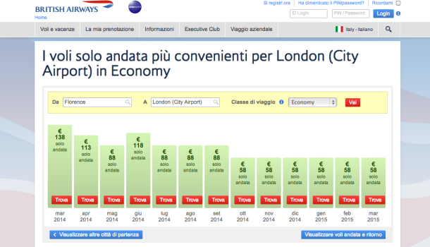 ricerca voli british airways