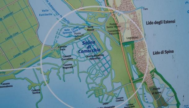cartina Saline di Comacchio
