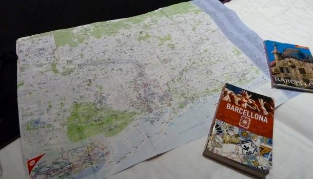 mappa e guide di barcellona