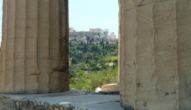 Acropoli vista dall'Efesteion