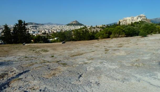 Pnice, Acropoli, Areopago e Licabetto