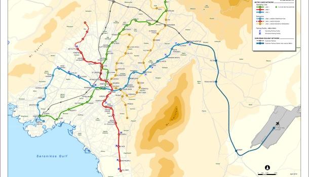 mappa della metro di atene
