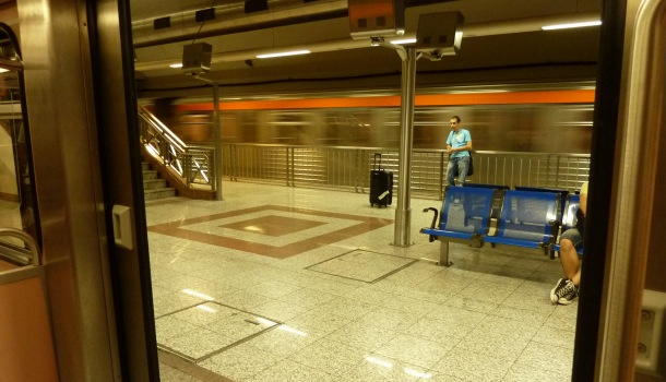 metro atene convoglio