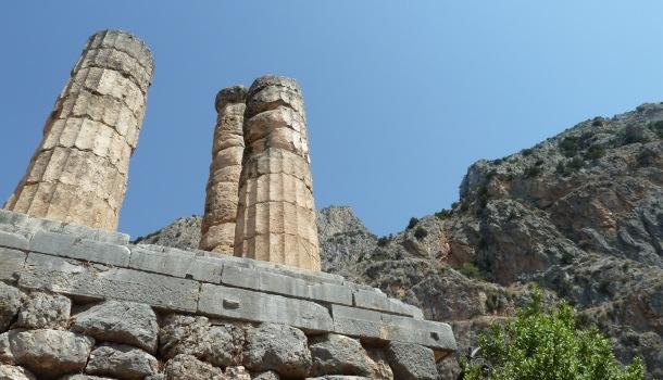 colonne del tempio e Parnaso