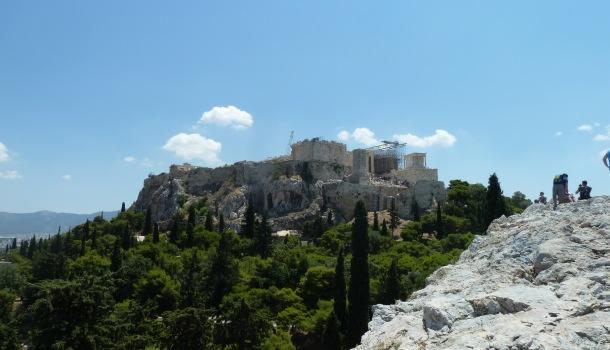 vista dell'acropoli dall'areopago