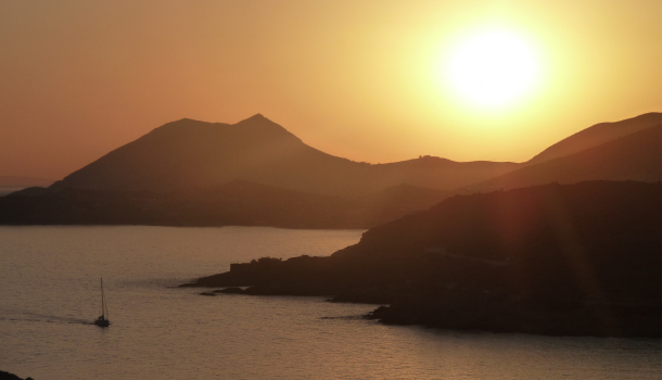 golfo saronico tramonto