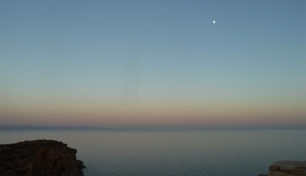 tramonto sul golfo saronico