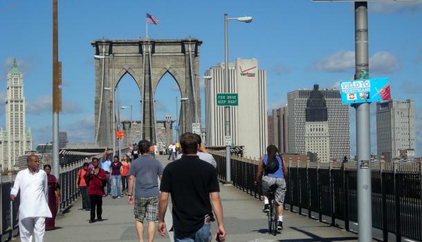 ponte di brooklyn_ingresso pedoni e bici