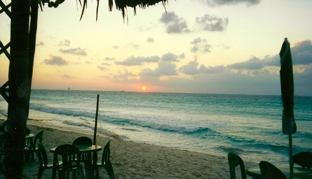 tramonto a isla mujeres
