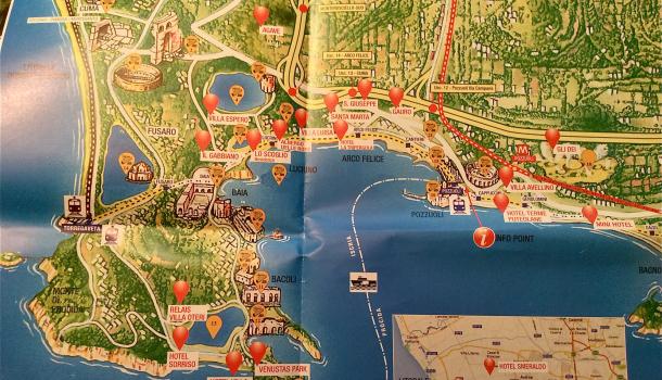 mappa campi flegrei