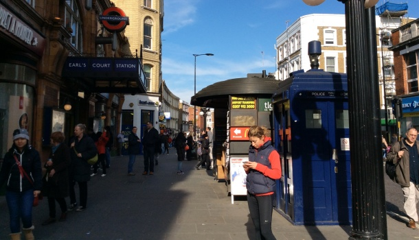 earls court e il tardis