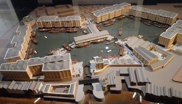 modellino canary wharf_museum of londo docklands