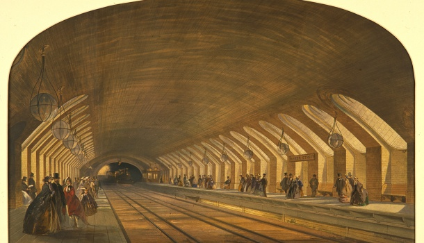 Lithograph_of_Baker_Street_Station_on_the_Metropolitan_Railway_london_transport-Museum