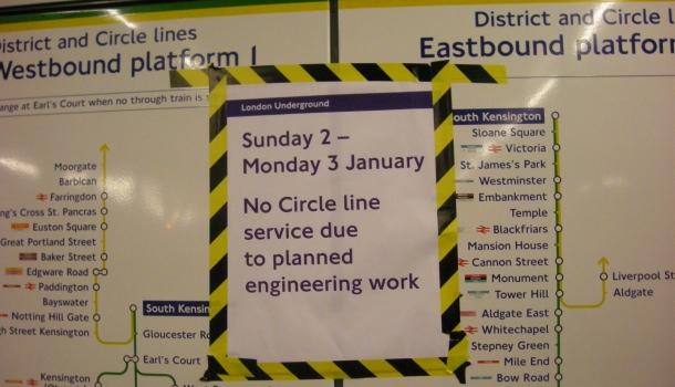 london underground lavori