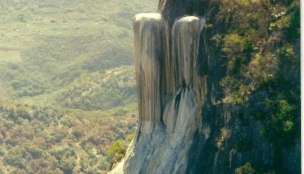 cascata hierve el agua particolare