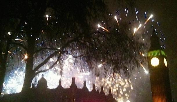 fuochi artificio al big ben di londra