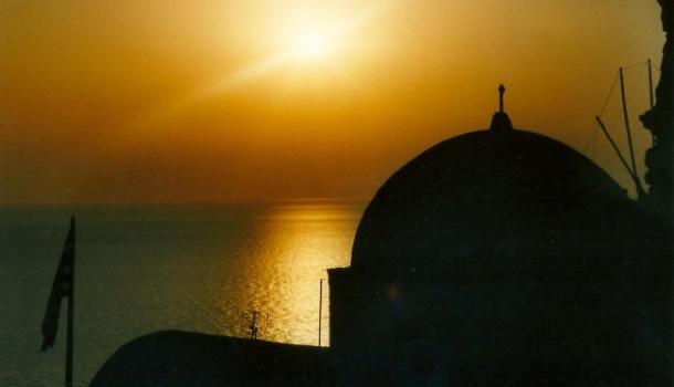santorini tramonto Oia