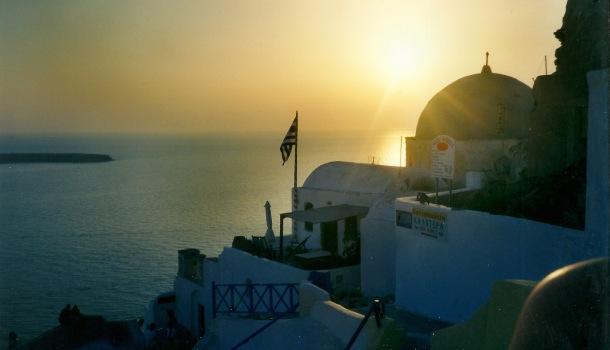 tramonto a Oia