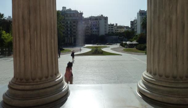 colonne museo archeologico atene