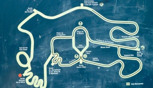 mappa di park guell