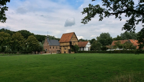 villaggio belga ricostruito nel limburgo
