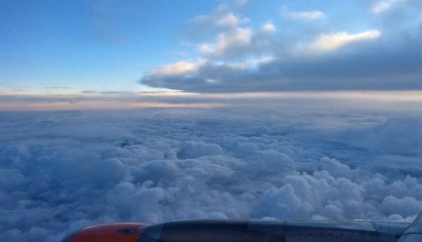 in volo per il belgio