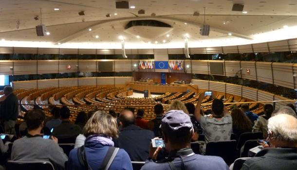 visita a emiciclo parlamento europeo