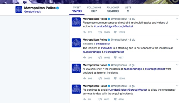 profilo twitter metpoliceuk