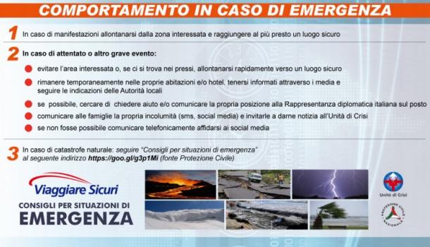emergenza in viaggio: consigli farnesina