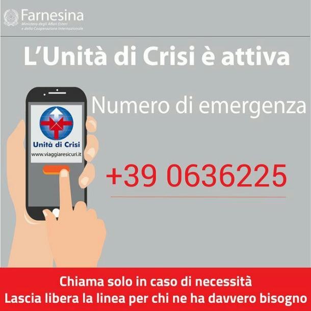 i numeri dell'Unità di crisi