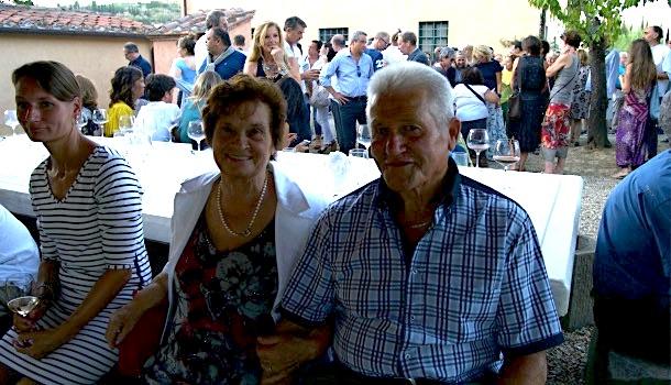 Beppe, ex contadino de Il palagio, e sua moglie