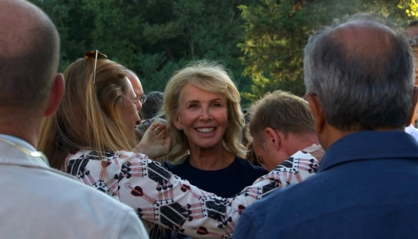 Trudie Styler in Toscana