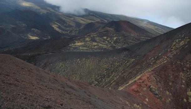 Monti silvestri sull'etna