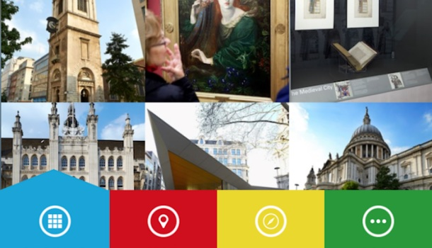 city of london visitor trail, app della city di londra