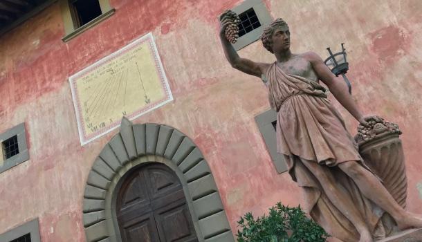 statua del vino vignamaggio